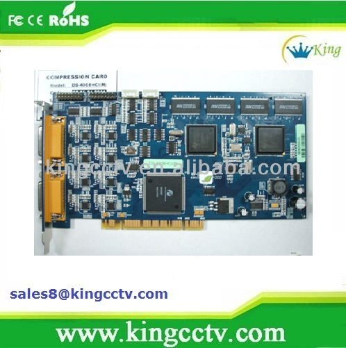 hot selling 8ch cctv dvr card ds-4008hci cctv pci dvr h 264 video capture card