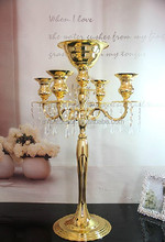 tall wedding crystal candelabras/metal candlesticks with a flower bowl wedding centerpieces on sale
