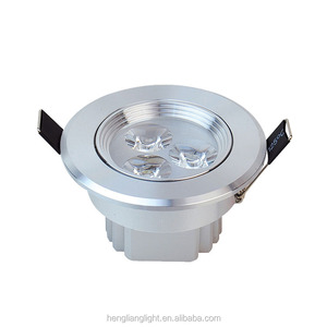 10pcs/lot led downlight lamp 3w 5w 7w 9w 12w 15w 18w 230V / 110V ceiling recessed downlights round