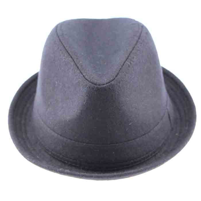 510999031b8 Get Quotations · Hot Sale Travel Outside Bowler Black Flat Brim Jazz Tea  Party Grey Fedora Hats