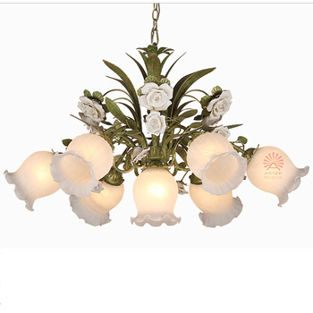 Arter white rose flower pendant lamp vintage lightingchandeliers arter white rose flower pendant lamp vintage lightingchandeliers with glass shades up and down mightylinksfo