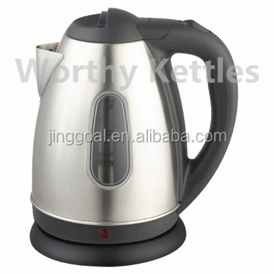 Wholesale 1.8L stainless steel electric kettle with water guage window with LED light