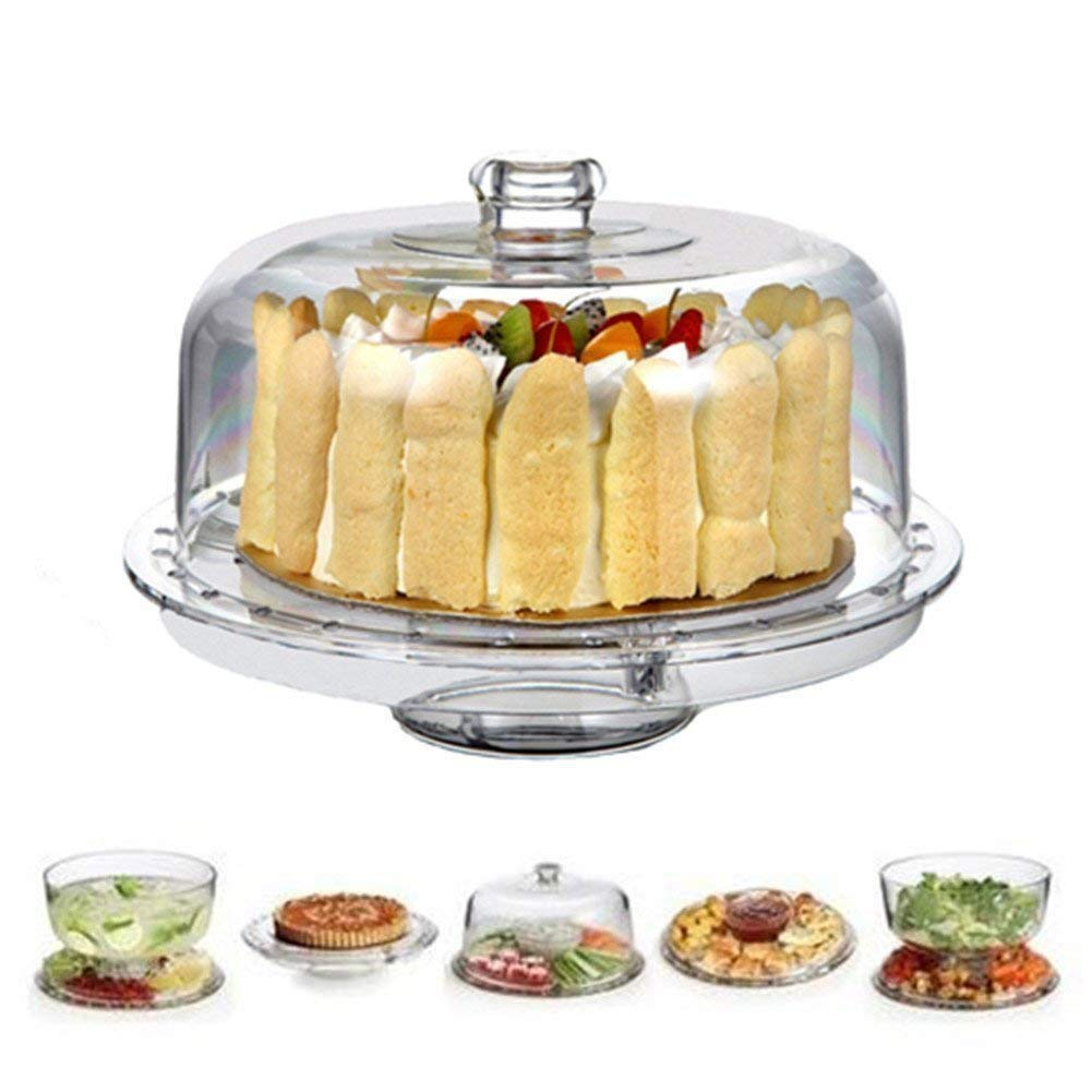 TableCraft Products 821422 Cake Stand /& Cover Set 12.75 Dia x 13.75 H