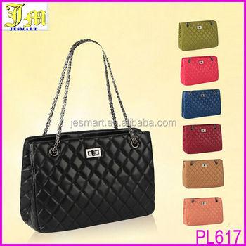 Hot Korean Stylish High Fashion Quilted Chain Strap Tote Shoulder Bag Handbag Purse