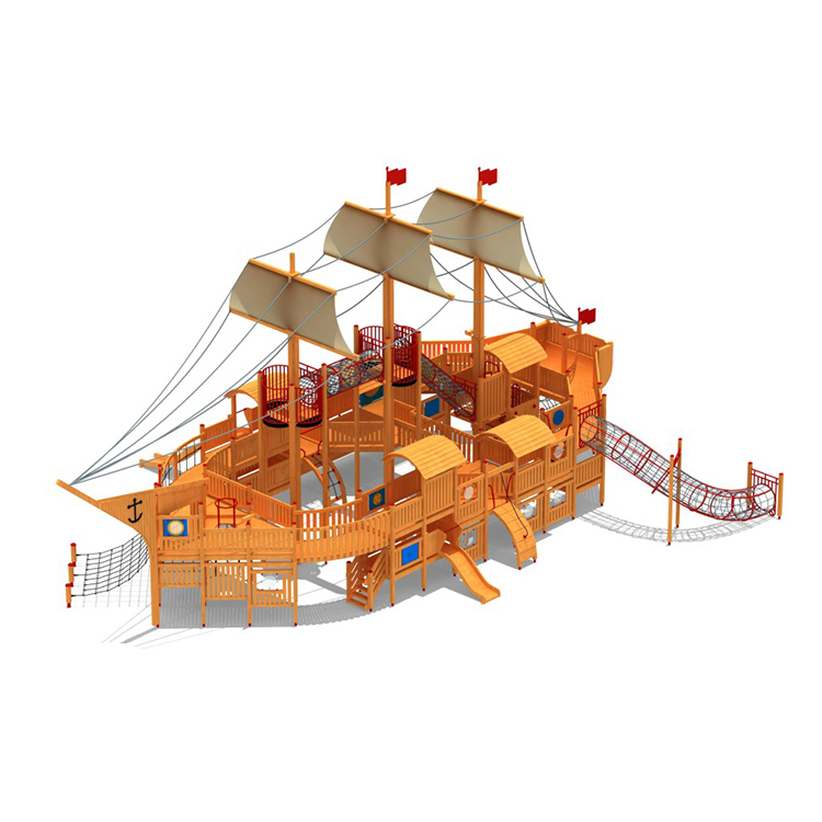 ZED pirate ship theme Wooden playground outdoor playground equipment for sale