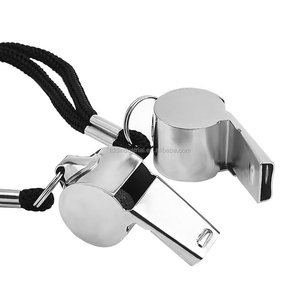 Stainless Steel Loud Sport Coach Emergency Whistles with Lanyard