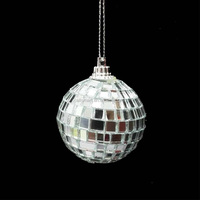 4cm christmas small round decorative disco mirror ball ornaments