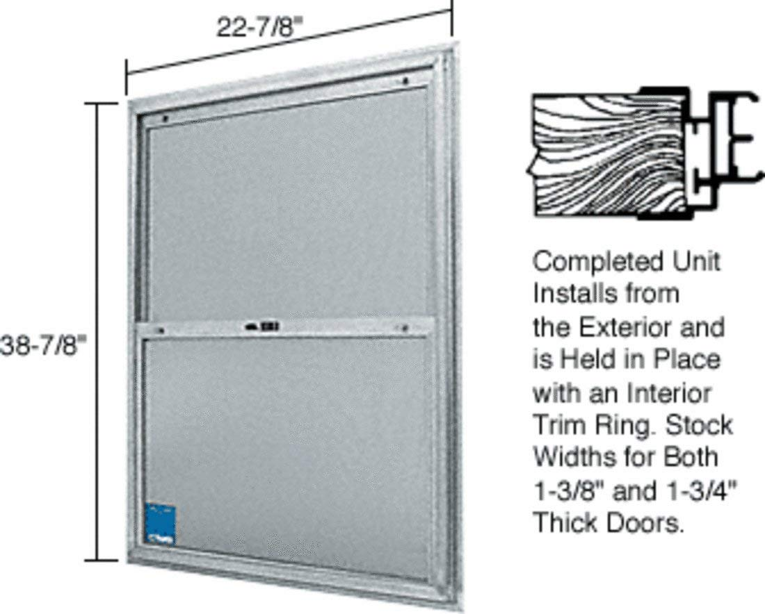 """CRL 22-3/4"""" x 38-3/4"""" Bel-Air""""Plaza"""" Replacement for Competitive Combination Unit with Clear Tempered Glass and Mill Frame for 1-3/4"""" 2-8 Door"""