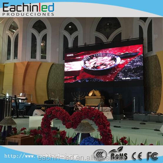 Church led screen indoor HD high resolution 4x3m background led display screen, P4 led
