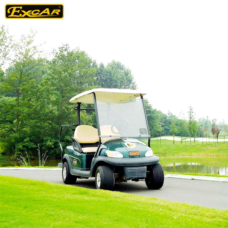 48 V Trojan Batterij 2 Persoon Elektrische Golfkar Met Dubbele Kleur