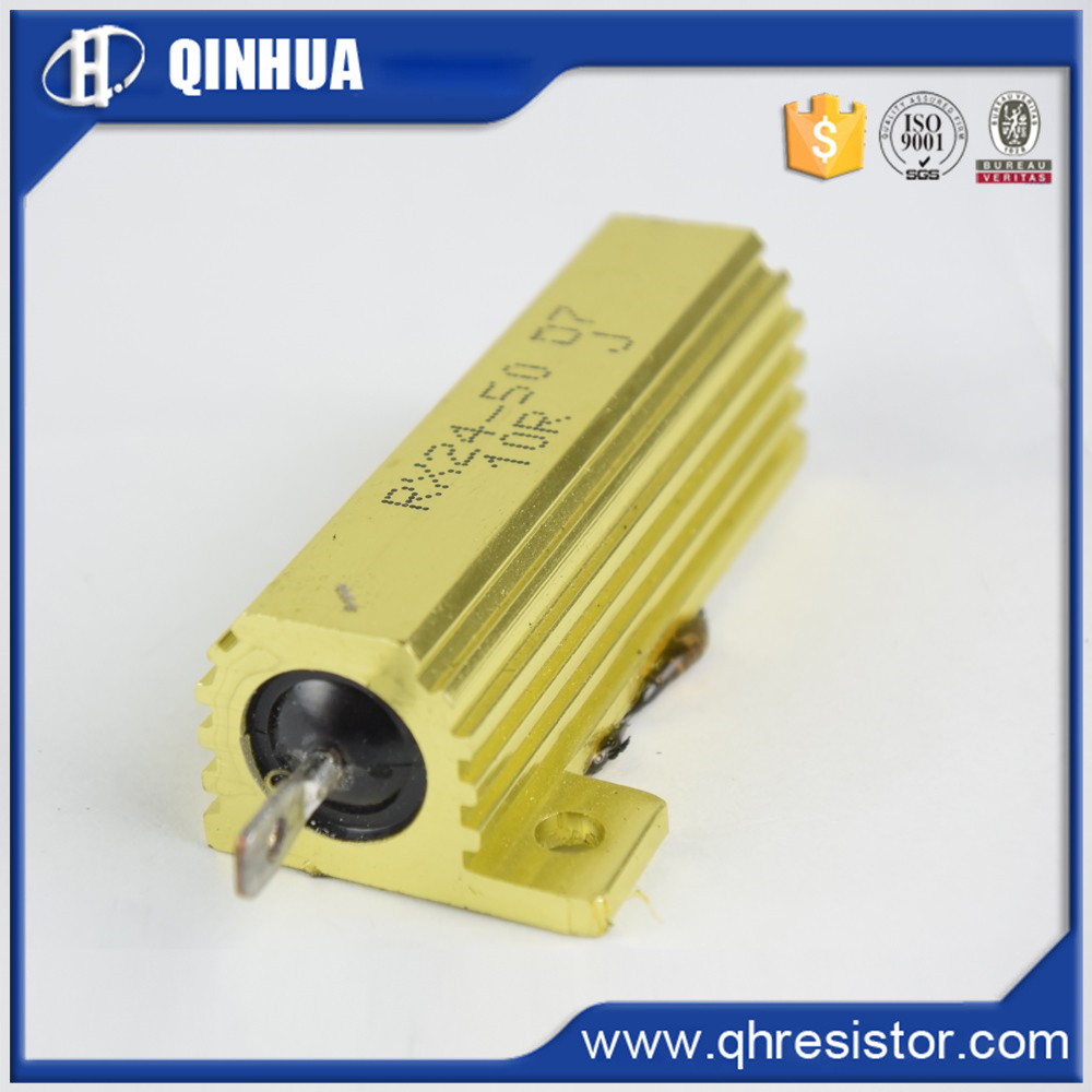 Golden aluminum housed wire wound power resistors 100w