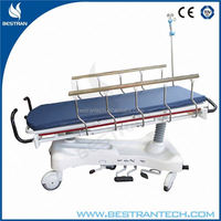 BT-TR001 with 5 functions guide wheel steel fram hydraulic emergency stretcher for sale