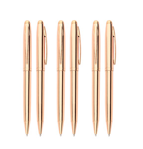 good quality elegant custom logo rose gold metal pen,rose gold office supplies