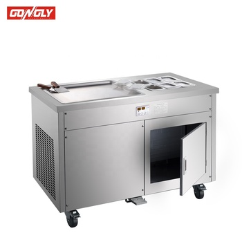 500*500mm square pan fried ice-cream machine,quickly refrigeration ice cream machinery