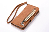 PU Leather Phone Case Wallet ID Credit Card Stand Zipper Flip Cover for Iphone 7 plus