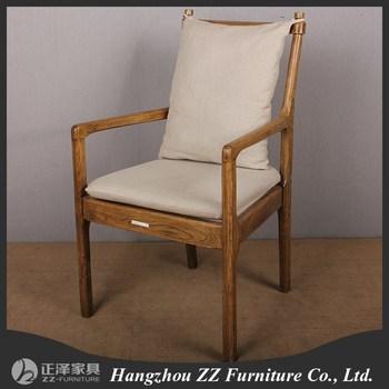 Simple Design Upholstered Distressed Armrest Dining Chair