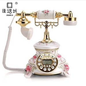 JQYD European-style garden antique telephones fashion creative landline telephone landline retro wedding gifts