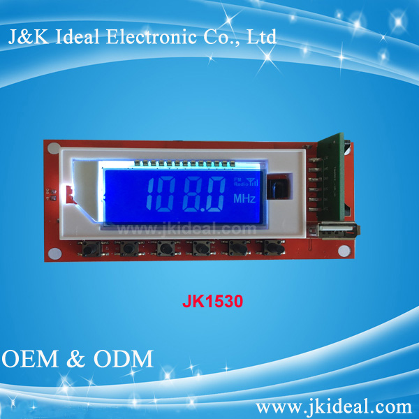 JK1530 fm usb lcd mp3 player module for radio