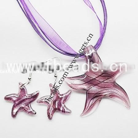 Lampwork Starfish Earring Jewelry Lots 314801