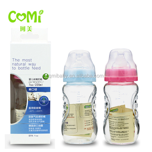 factory OEM glass baby bottle