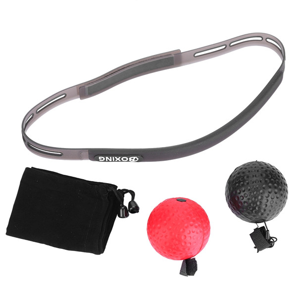 Boxing Punch Fight Exercise Ball Head Band Reflex Speed Training Stress Relief