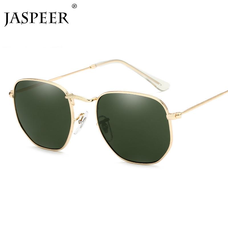 f5b3efa990 GUVIVI Metal nuevas gafas de sol vintage Hombre moda gafas de sol negro  flat moda pequeñas