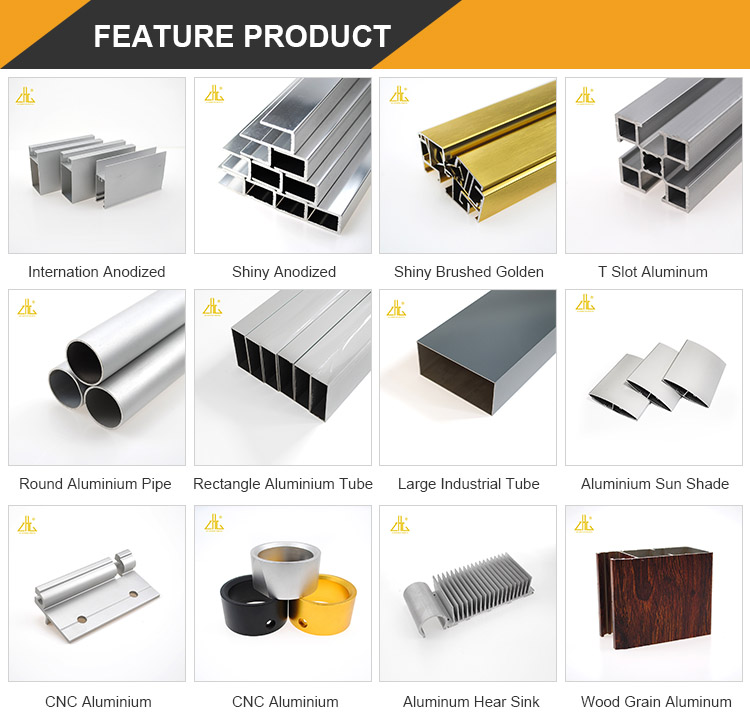 Aluminium profiles factory supplying wooden grain colors aluminium square rectangular tubes with optional wood colors