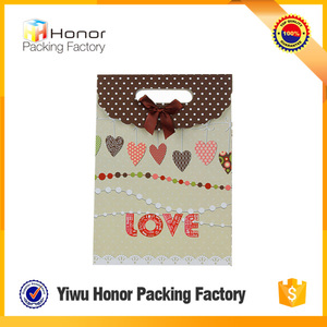 Lovely Small Gift Packaging Bags Customized Design Yiwu Paper Factory Price