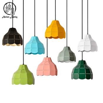 colorful pendant lighting. DIY Colorful Metal Art Macaron Pendant Light Mini Aluminum Lamp Lighting L