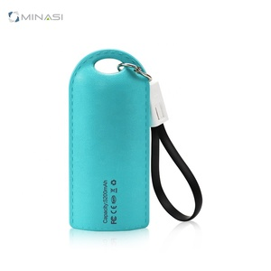 2019 Keychain Mobile Power Factory Wholesale Full Capacity 4000 Mah 5200 Mah Charging Treasure Gift Power Bank