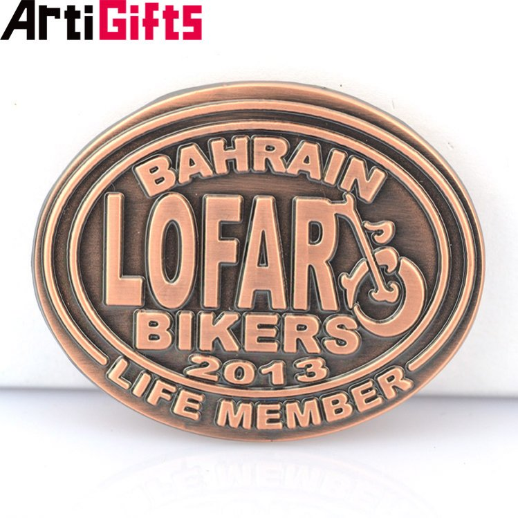 Artigifts high quality hot selling custom metal brass pin name badge holder