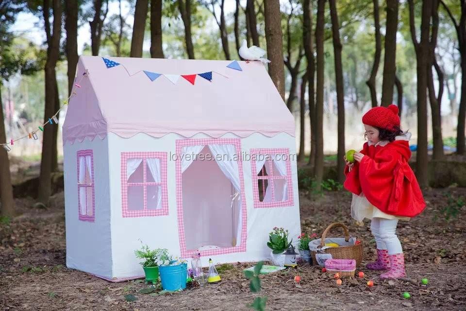Rosa sue o princesa ni os de tela de algod n canvas house - Casas de tela para ninos ...