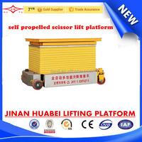 big discount offered 6m vertical scissor lift self propel with extension platform