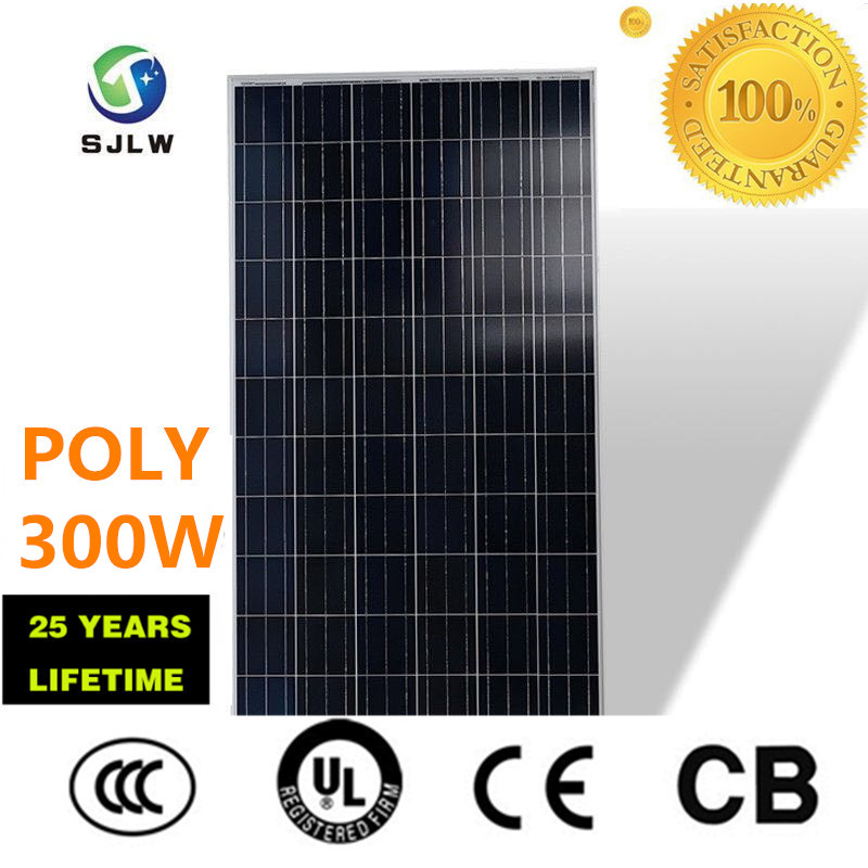 Indonesia hot selling poly solar panel 300w /solar panel system /SJLW factory directory sale soalr panel poly
