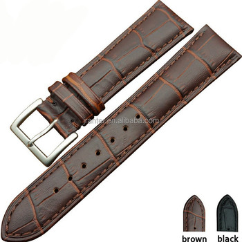 genuine crocodile leather straps with buckle