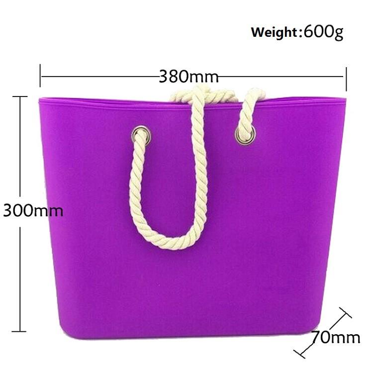 Custom Rope Handle Purse Handbag Oem Promotional Silicone Beach ...