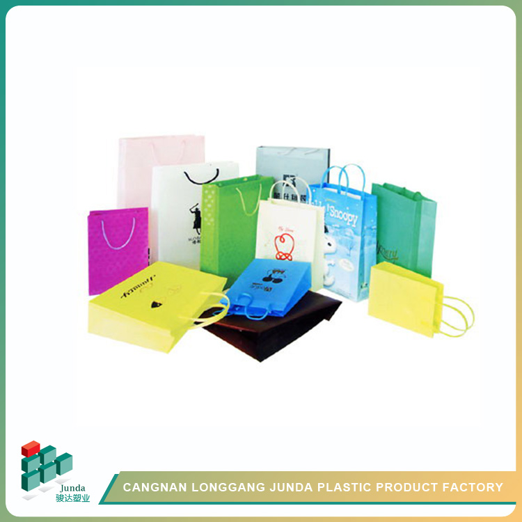 Junda China Supplier Custom Big Size Colored Plastic Shopping Bags ...