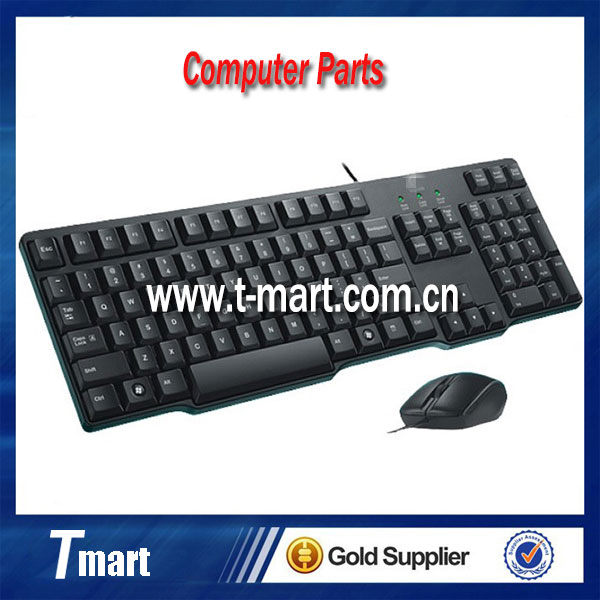 Wholesale 100% working computer parts for Logitech MK100 USB wired desktop keyboard and mouse in stock and new