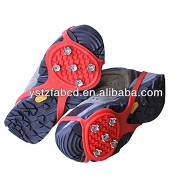 Non-slip rubber ice spikes, ice grippers for shoes