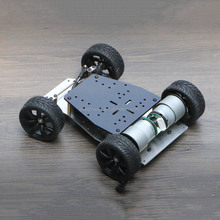 Dual motor Smart car chassis steering turned chassis with encoder