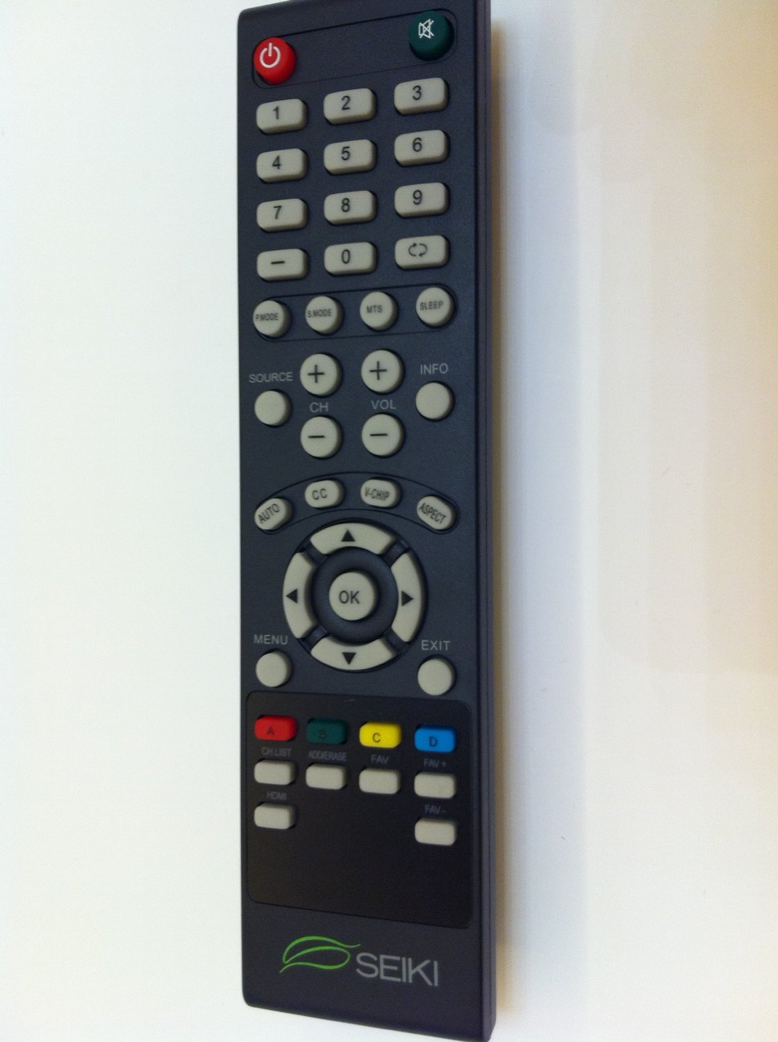Brand NEW original seiki SEIKI TV Remote for SEIKI LC-32GC12F LC-46G68 SC552GS SC324FB SC32HT04 SE32HS01 SE65FY18 SE60GY24 SE65JY25 SE19HT01 SE40FY19 SE50UY04 LE-46GCA LE-55G77E SE39UY04 SE47FY19 LE-32SCL-C SE55UY04 SC22HY07 TV REMOTE----Original remote; do not any setting, only put into battery