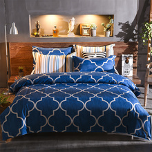New printed 100% polyester Microfiber bedding set pillowcase duvet cover set