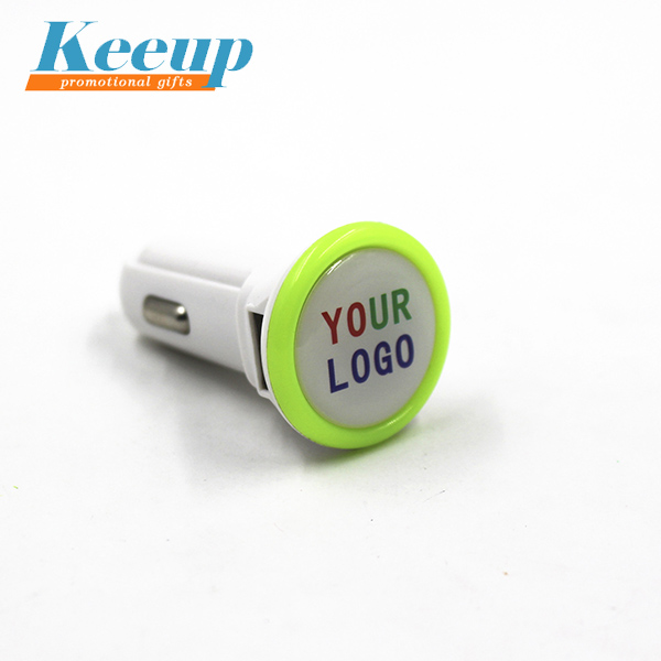 Promotional Gift Custom LOGO Cheapest USB Car Charger With Led Light