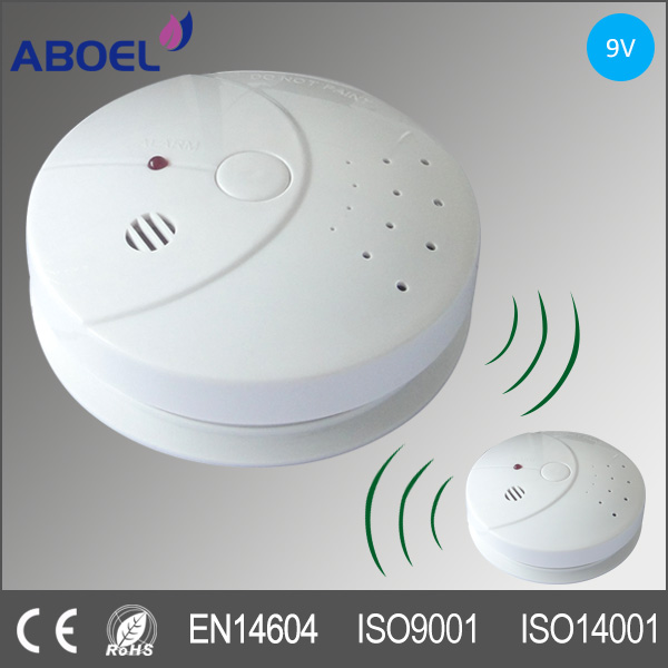 Network Interconnected 433MHZ Radio Frequency Wireless Smoke Detector