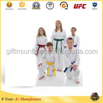 Simple White Super Light Material Arts Taekwondo Uniform