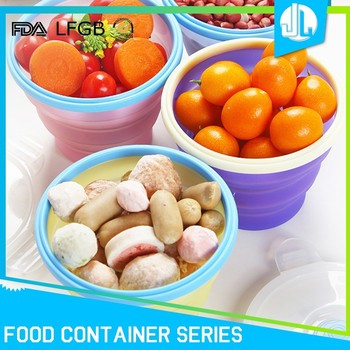 Eco-friendly cheap school silicone air seal food container