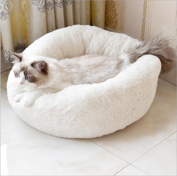Wholesale Custom Luxury Warm Soft Plush Comfortable Pet Dog Bed for Sleeping Winter Pet Supplies