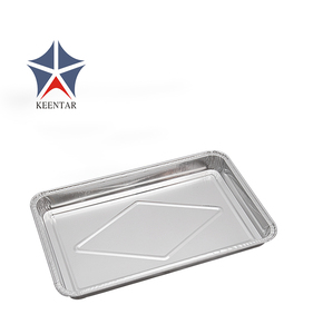 Disposable aluminum foil food tray
