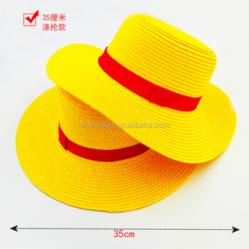 e3029a718ce Classic Memory One Piece Luffy Japanese Anime Cosplay Straw Hat Boater  Beach Hats Cartoon Cap Gift