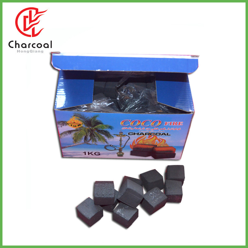 HongQiang 100% pure coconut shell cocobrico cube charcoal
